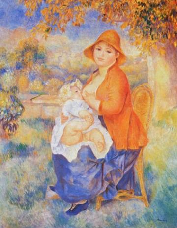 August Renoir - Matka karmiąca dziecko